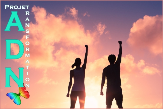People, power, and victory.  Silhouette of confident man and wom